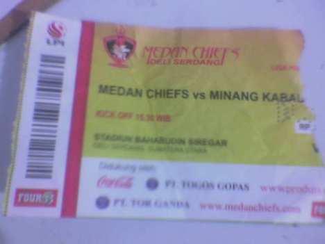 tiket nonton Bola, Medan Chiefs vs Minang Kabau FC
